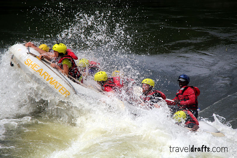 Whitewater rafting in Zambezi River