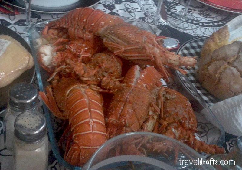 O que comer em Luanda? Lagosta