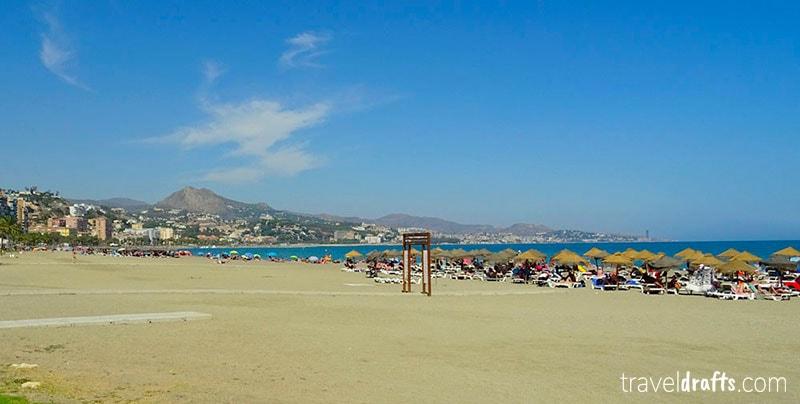 La Malagueta, a praia urbana de Malaga
