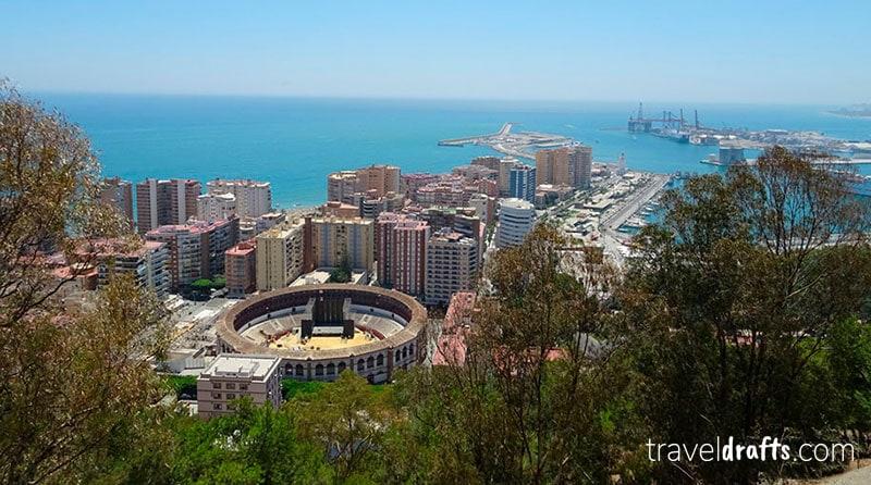 Vista de Malaga do Castelo