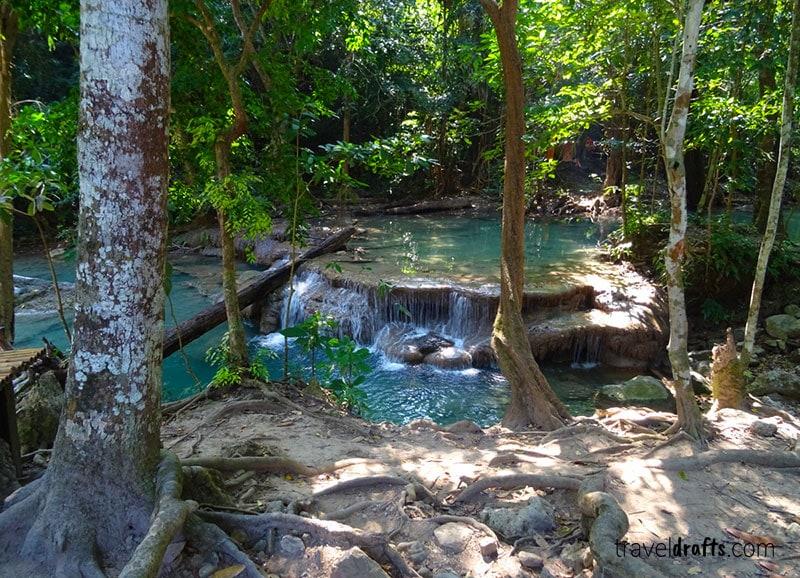 Erawan Falls tailandia- Kanachanaburi atracções