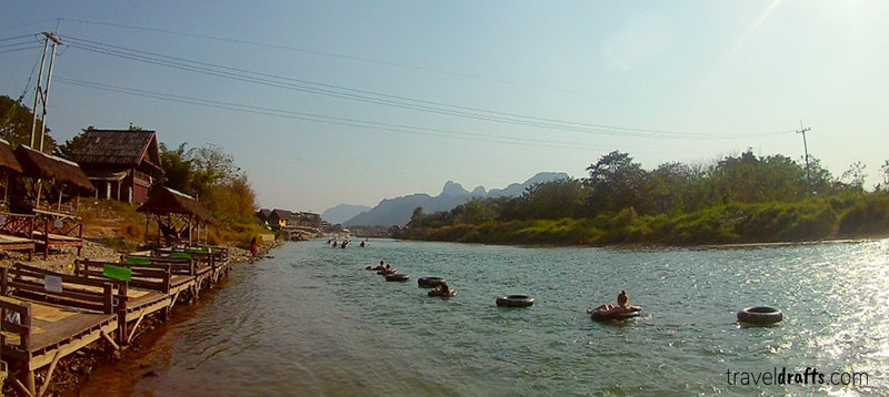 facts about laos - Tubing in Vang Vieng