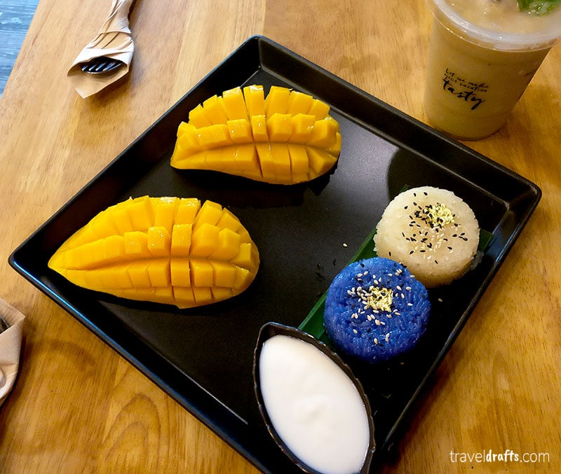 sticky rice with mango - melhores pratos da Tailandia