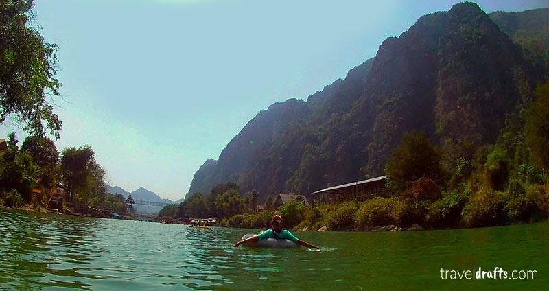Tubing em Vang Vieng Laos