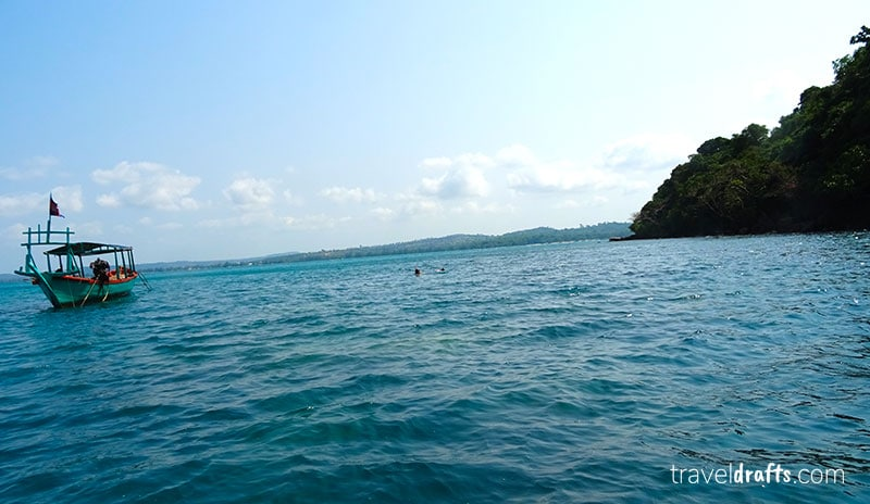 Snorkeling em Koh Preus Cambodja