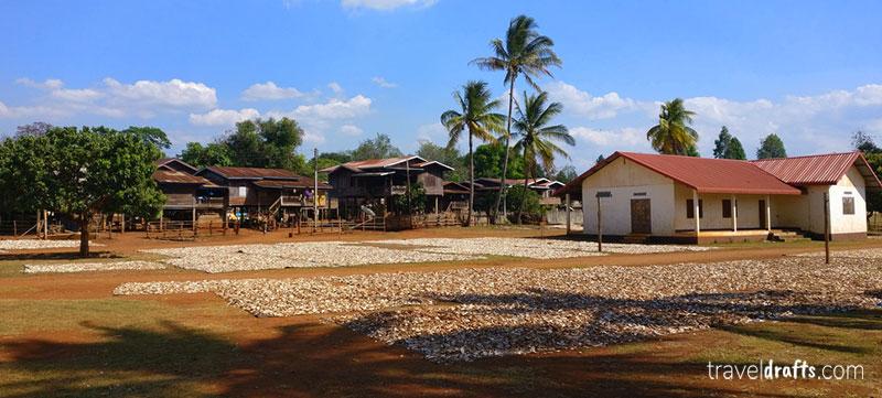 Mandioca no Laos