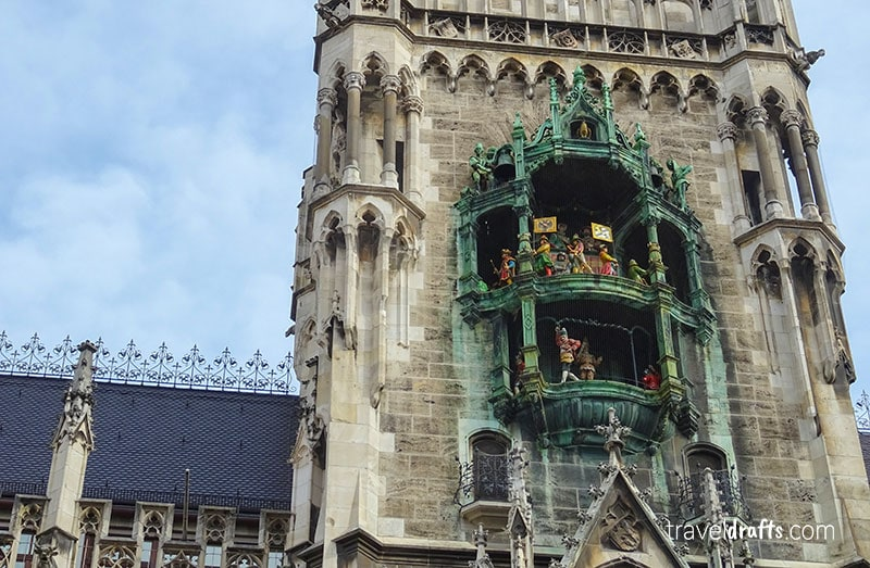 Glockenspiel one of the mandatory stops when you visit Munich in 2 days