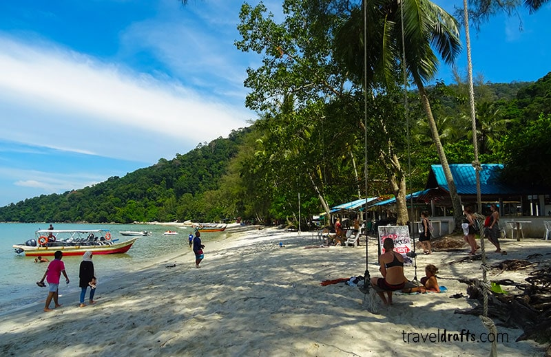 Hike penang national park para a monkey beach