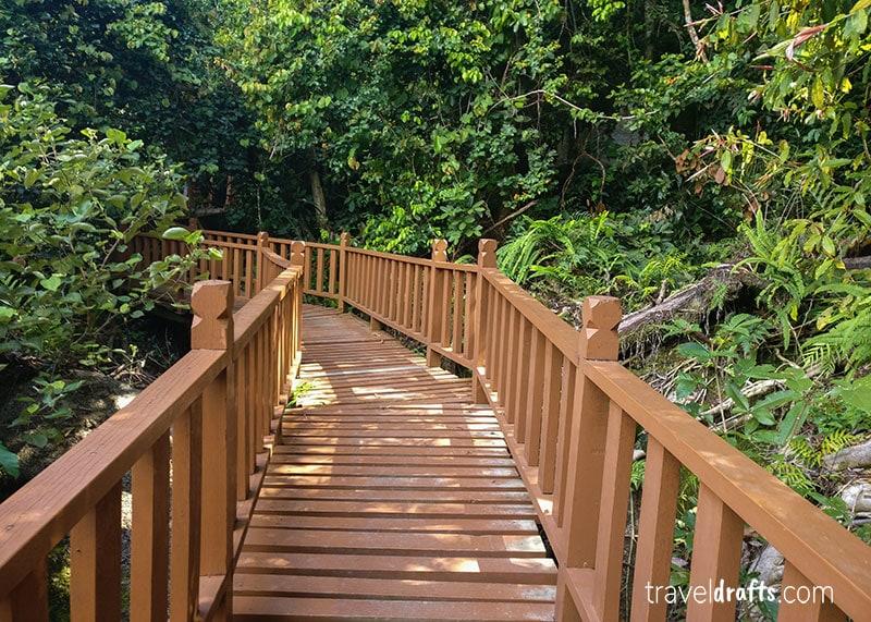 trilhos no Penang national park