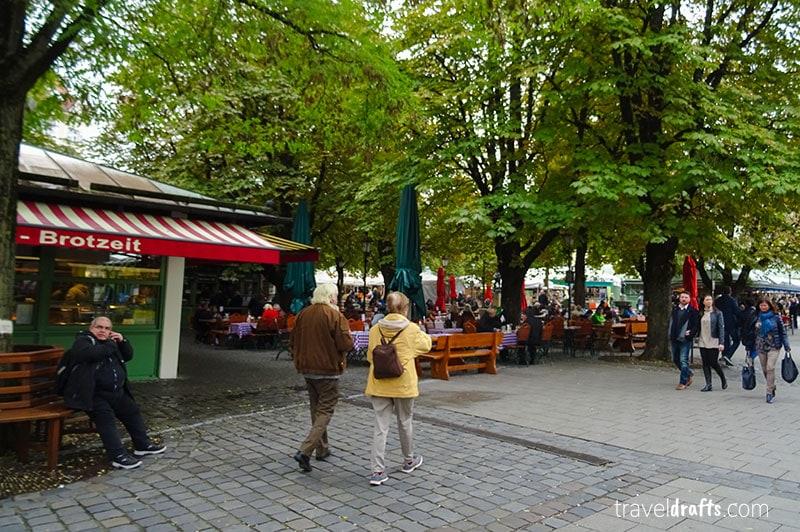 Viktualienmarkt Munich2 What is Germany famous for?