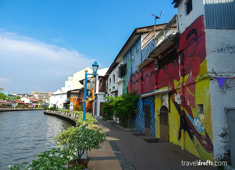 Costs of traveling in Georgetown and Malacca