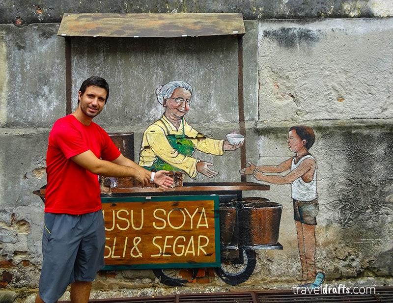 3D street art em Georgetown, Penang