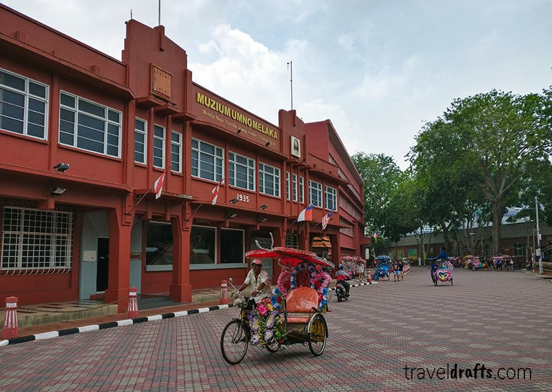 Is it easier to travel to Malacca or Georgetown?