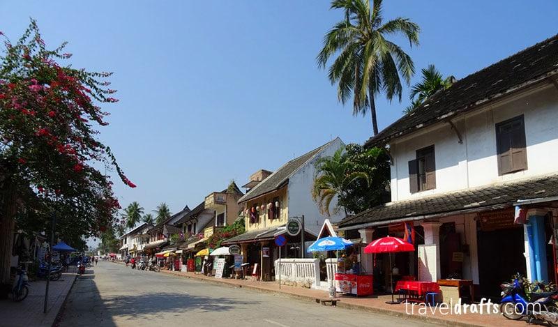 As agradaveis ruas de Luang Prabang