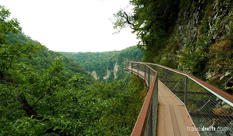 Best trails in Kutaisi Georgia - Okatse Canyon