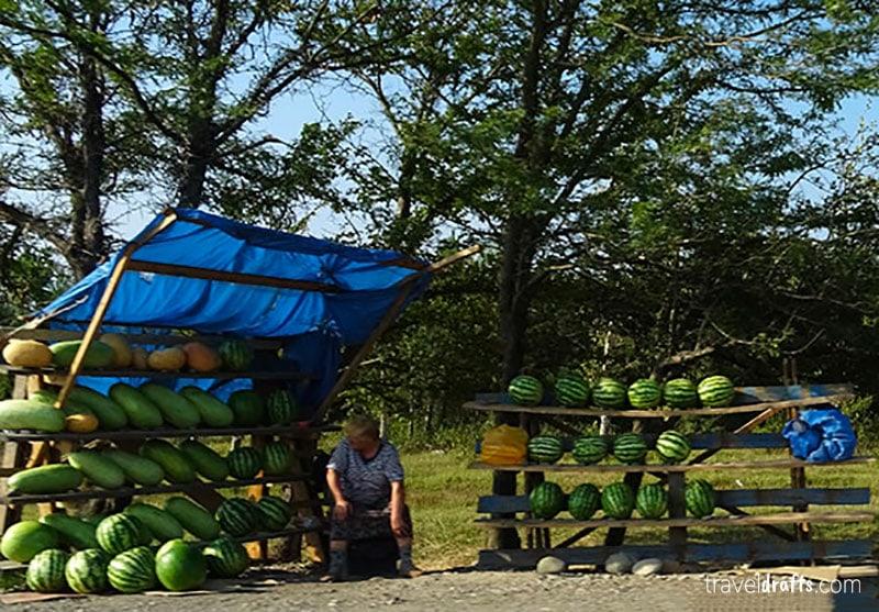 Food stalls in Georgia -