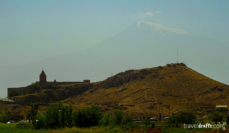 Khor Virap and Mount Ararat on the backdrop - a nice day trip from Yerevan