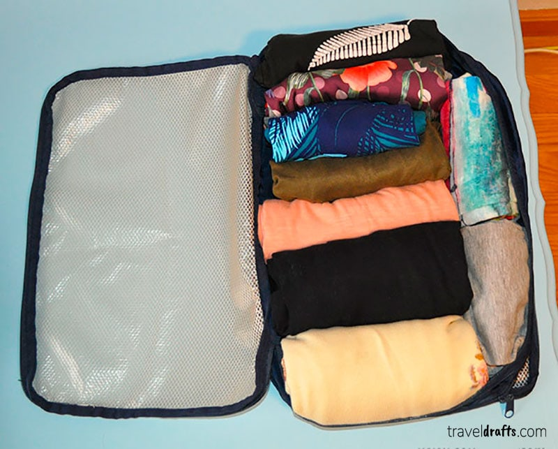 How to pack using packing cubes?