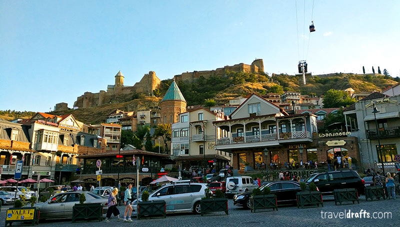Narikala Fortress , one of the best things to do in Tbilisi Georgia