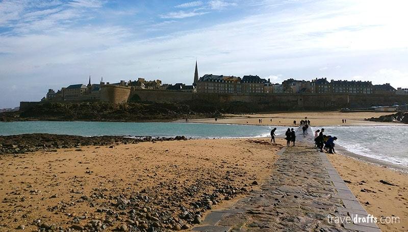 The walls of Saint-Malo