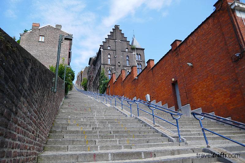 Montagne de Bueren in Liega - Travel to Belgium