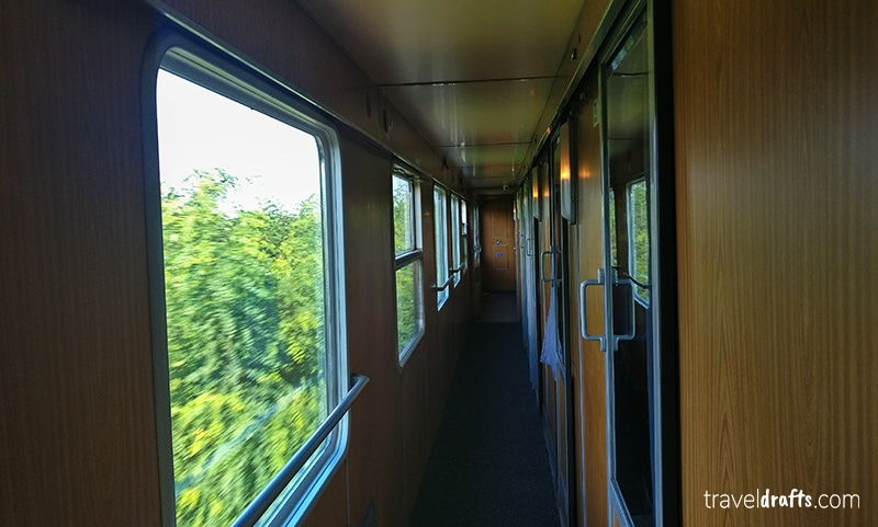 Sleeper carriages in the Ister Express train