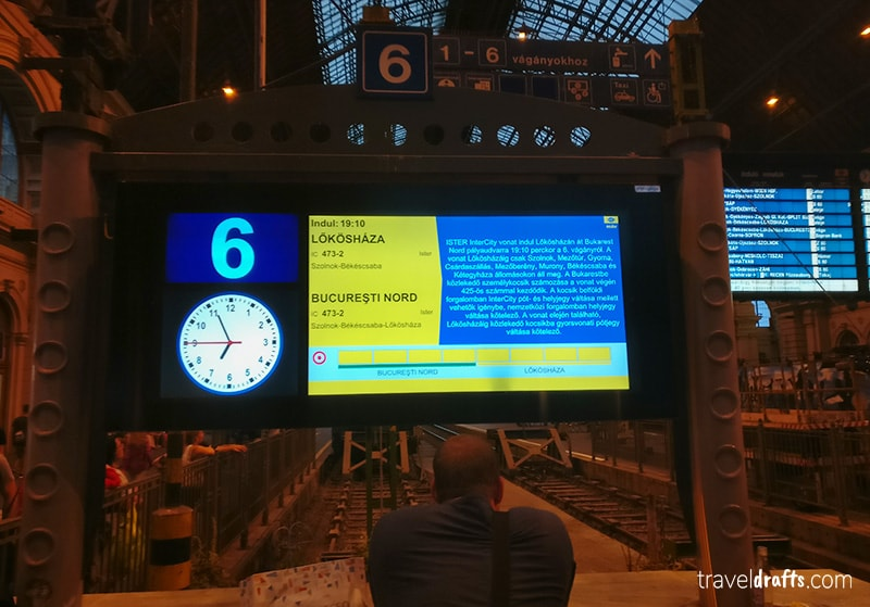 The timetable of the Ister express train (EN 473)