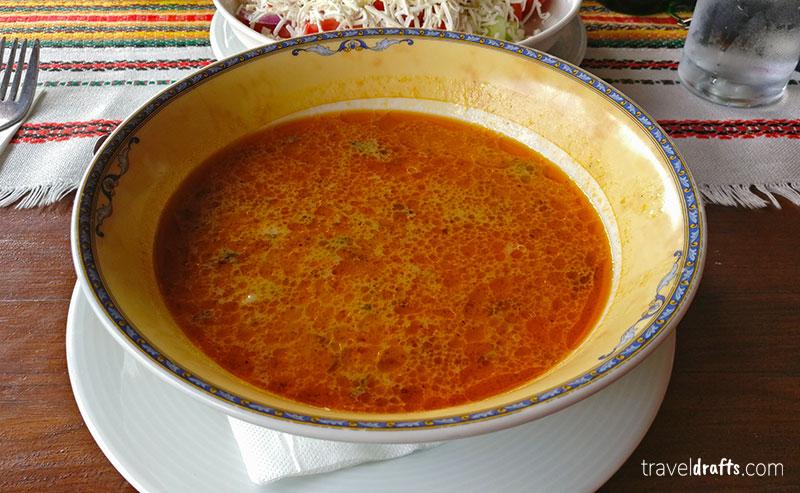 Shkembe tripe soup