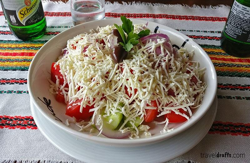 Bulgarian Salads  - Shopska Salad