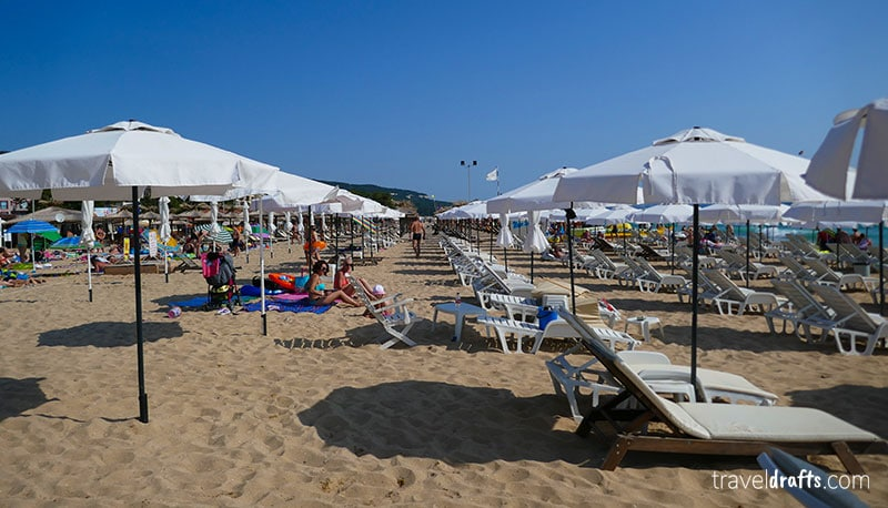 South Beach of Nessebar in Bulgaria