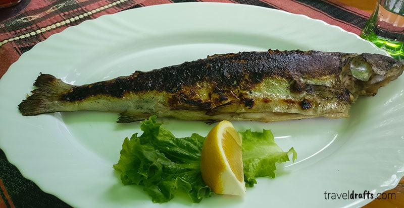 Bulgarian cuisine - Grilled Trout