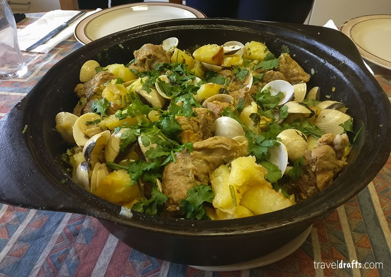 Carne de Porca Alentejana is one of the best foods to eat in Portugal