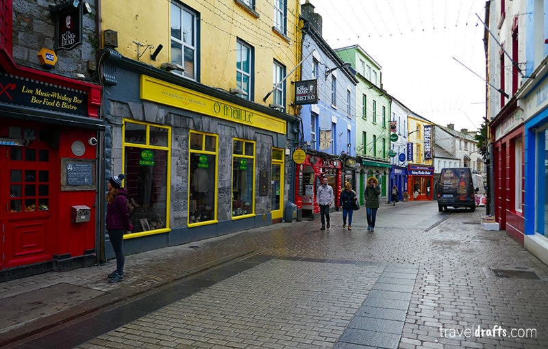 Shopping street in Galway, Ireland