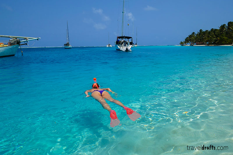 Snorkeling in San Blas - one of the must do things in Panama
