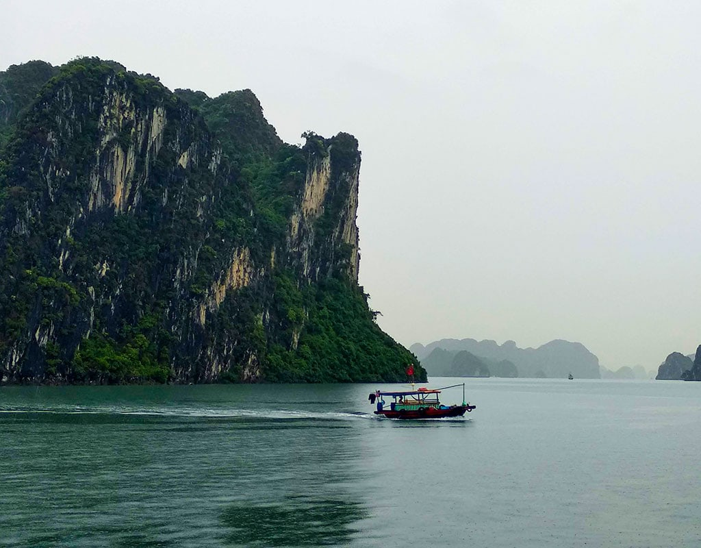 What is Vietnam most famous landmard? Halong bay