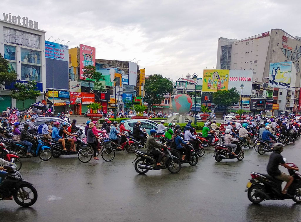 The motorbikes are one of the most famous things about Vietnam