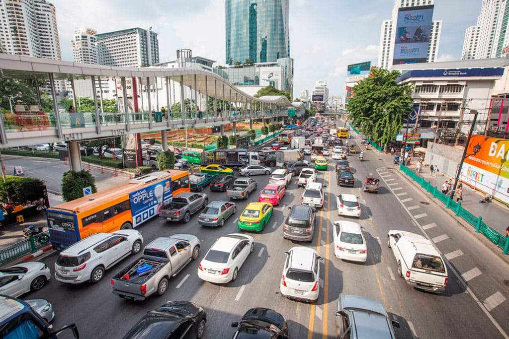 What is Thailand known for? traffic!