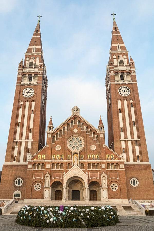 Hungary famous landmarks - Votive Church in Szeged