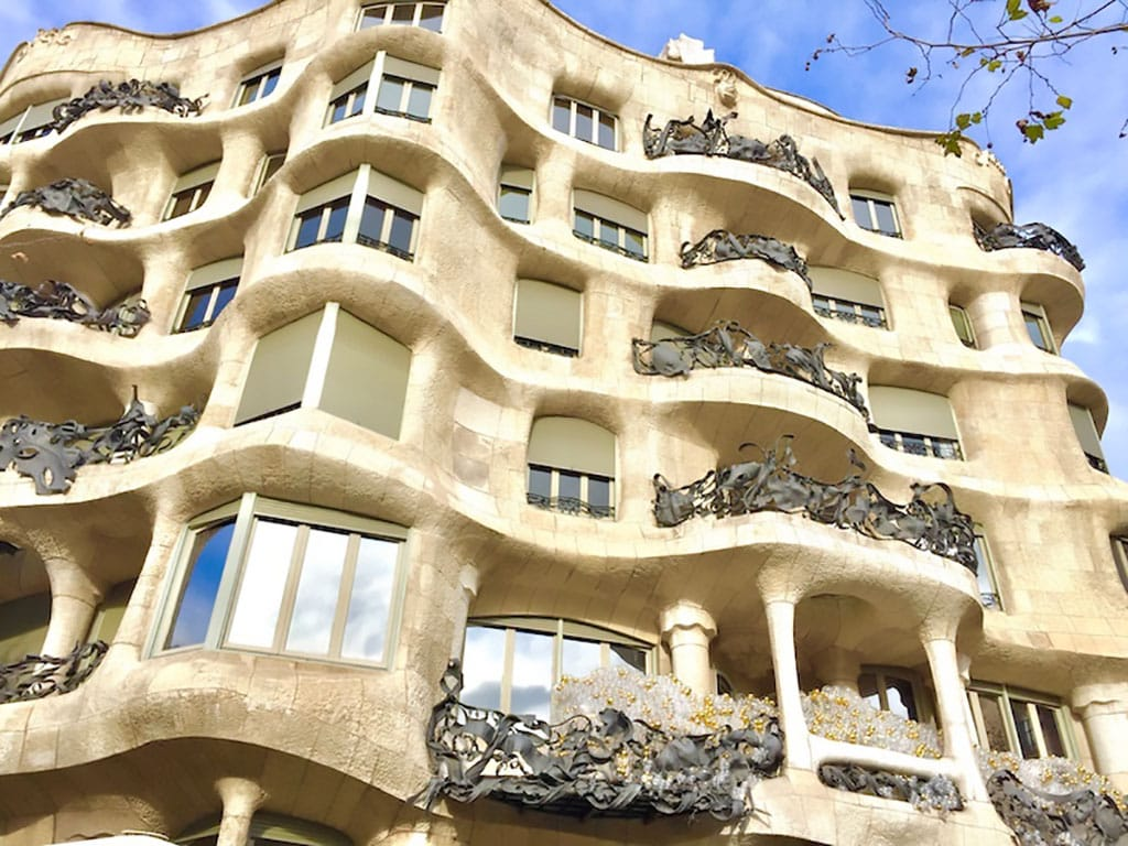Casa Milà, one of the famous Gaudi Houses