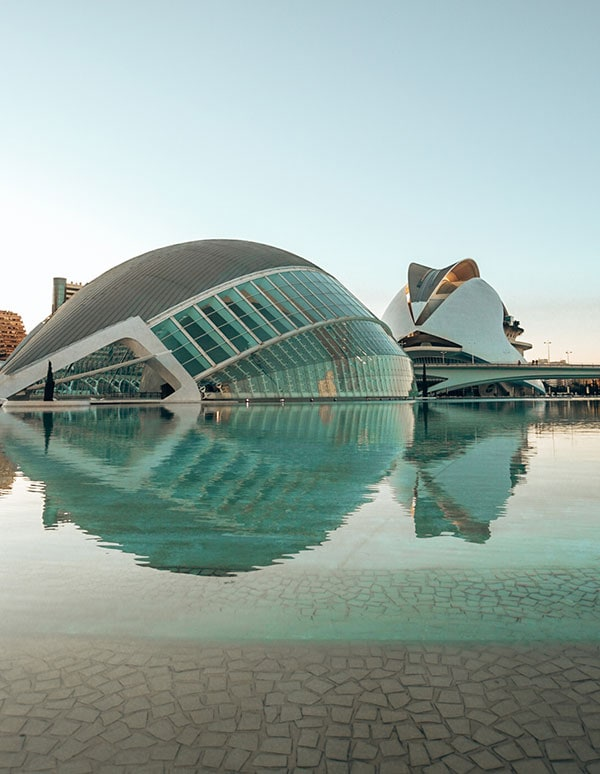 Ciutat de les Arts i les Ciéncies, in Valencia