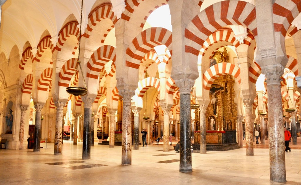 Interior of the Mosque-Cathedral in Cordoba, one of the most iconic landmarks in Spain