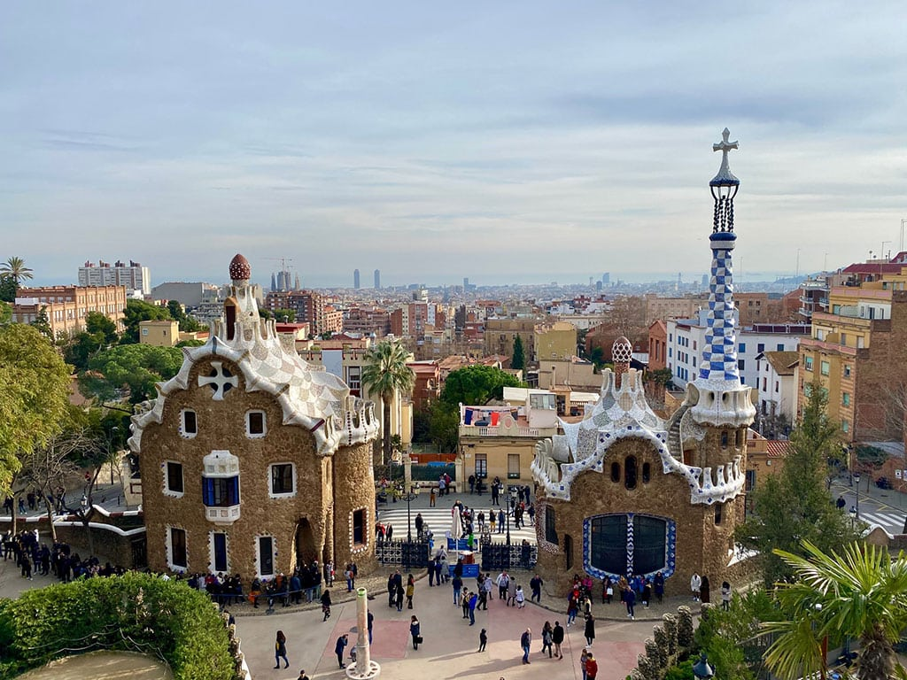 Beautiful parc Guell in Barcelona