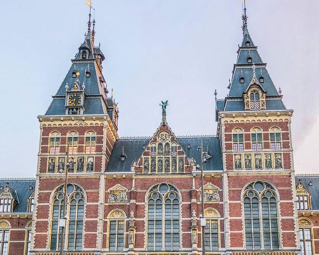 Famous landmarks in amsterdam Netherlands - Rijksmuseum