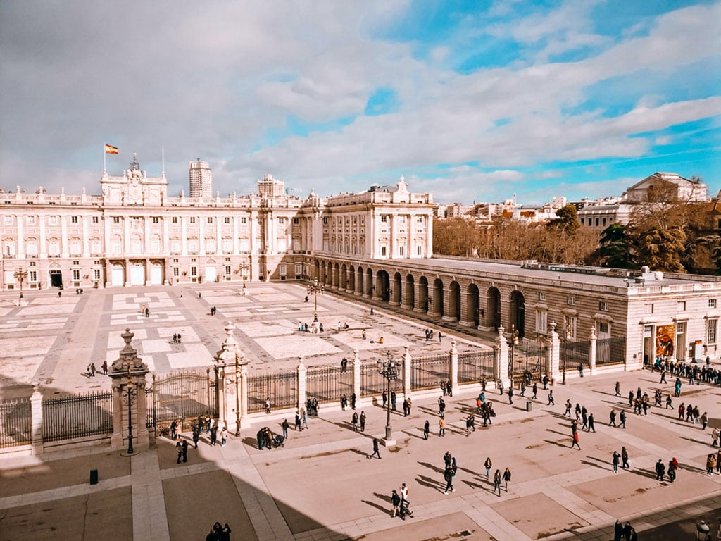 Famous monuments Spain - Royal Palace in Madrid