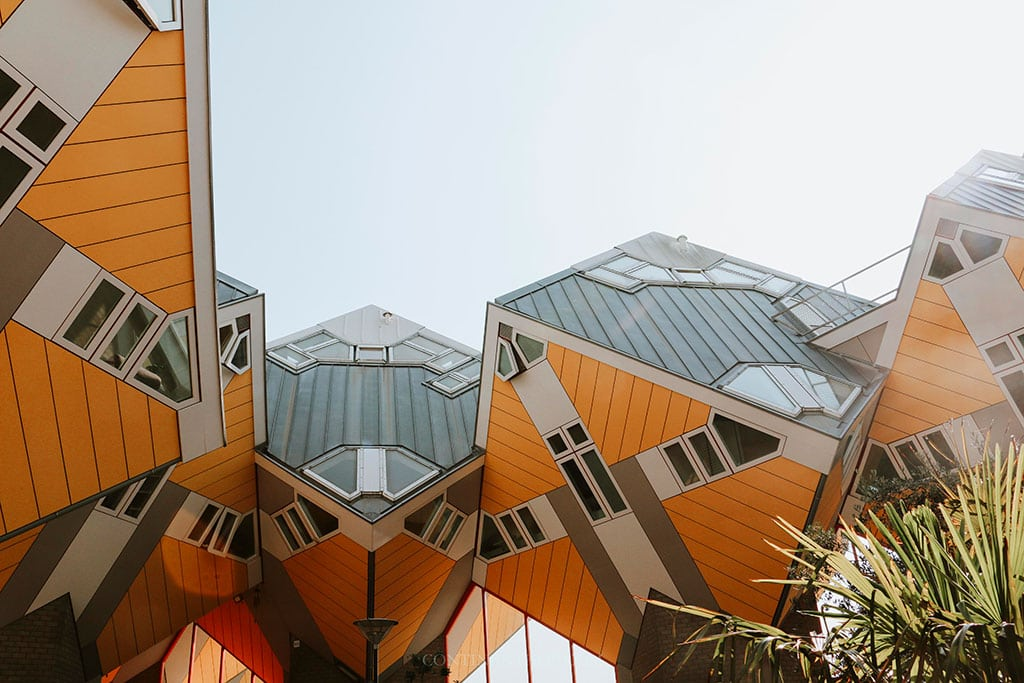 Cube houses Rotterdam, one of the famous landmarks Netherlands