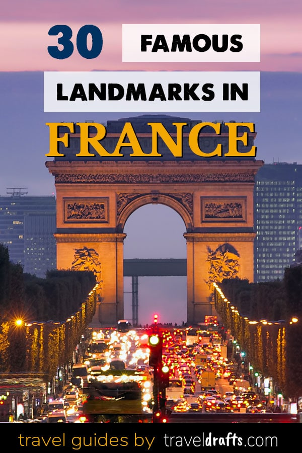 Famous landmarks in France