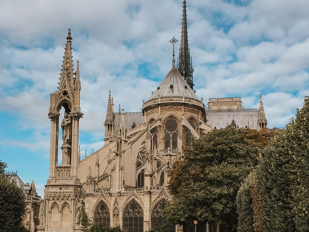 Notre Dame Cathedral, before the huge fire