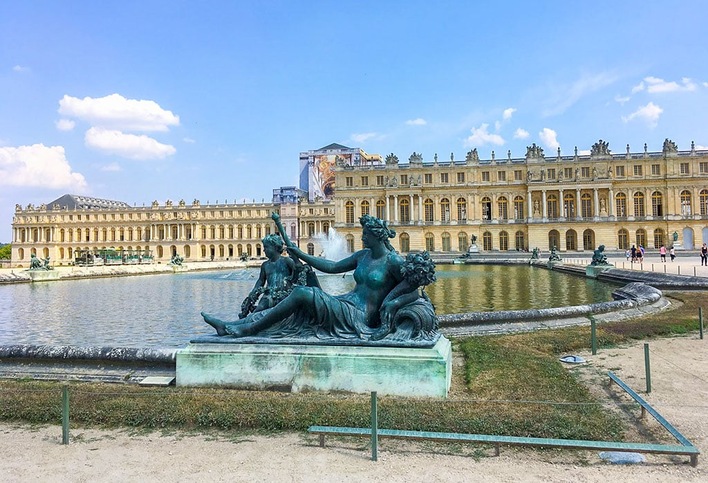 The exterior of Versailles Palace - France famous landmarks