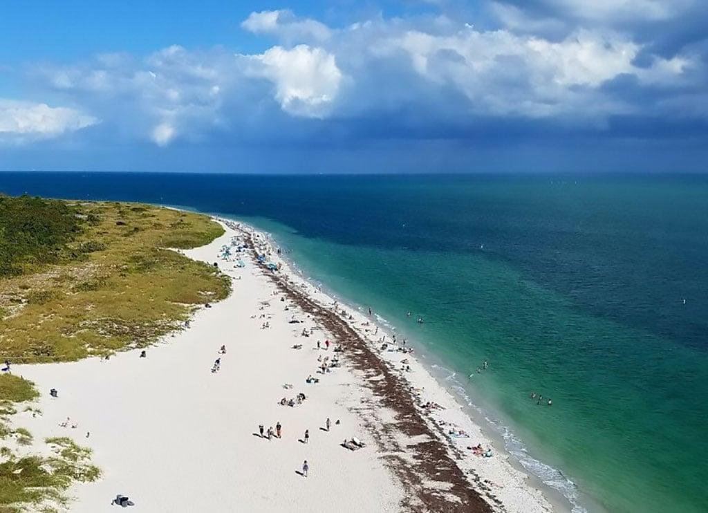 beach from Cape Florida lighthouse