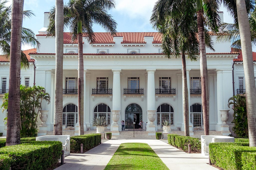 Flagler Museum - one of the most famous monuments in Florida
